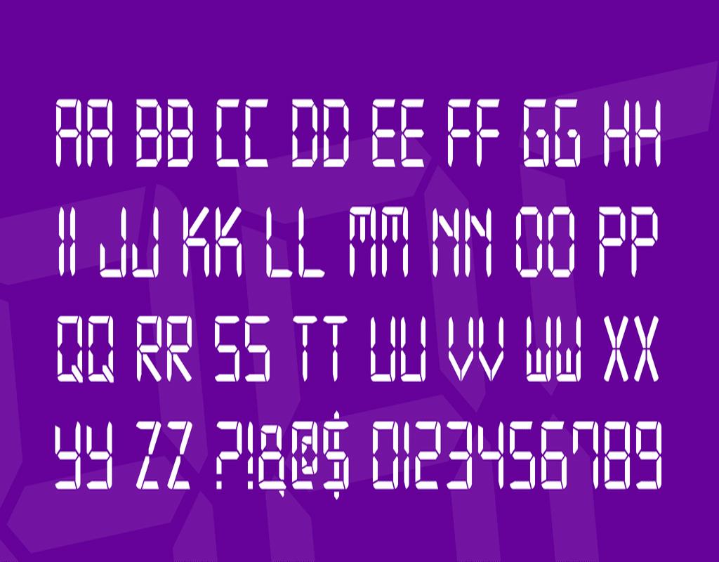 Digital Font Family