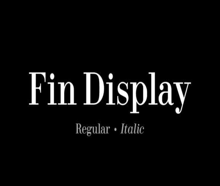 Fin Display Serif Font
