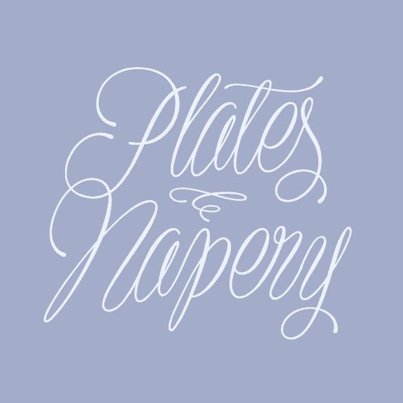 Plates Napery Font