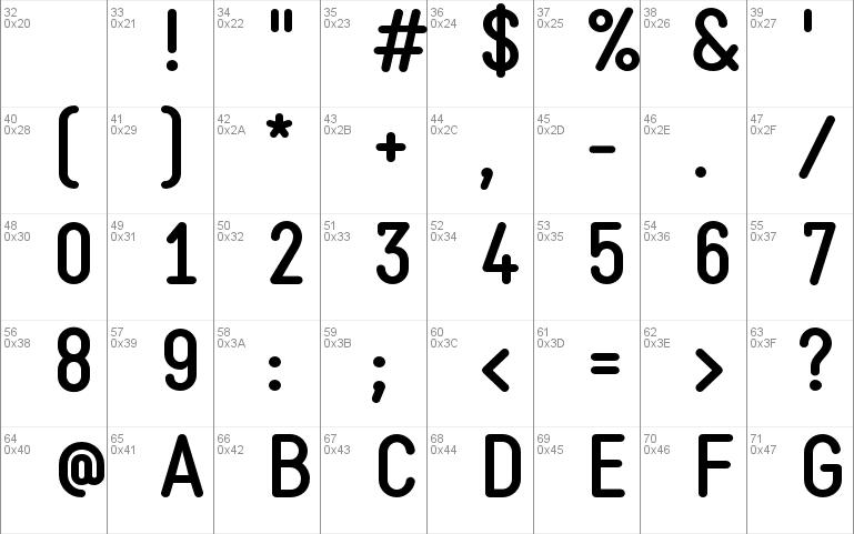 Static Bold Font