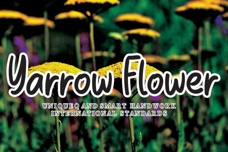 Yarrow Flower Script Font