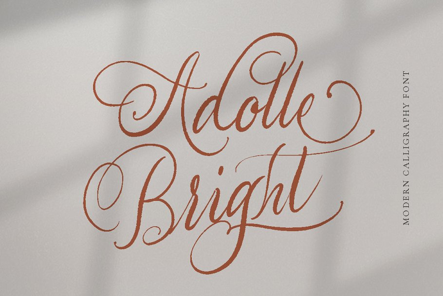 Adolle Bright Calligraphy Font