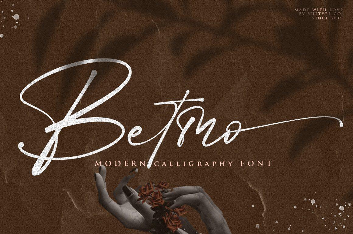 Betmo Calligraphy Script Font