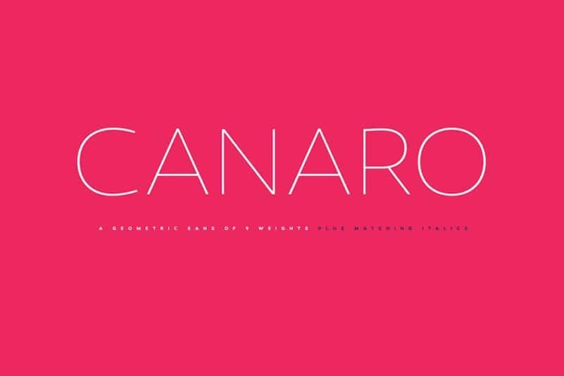 Canaro Sans Font Family