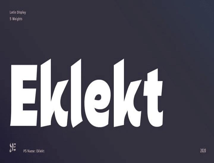 Eklekt Sans Serif Font