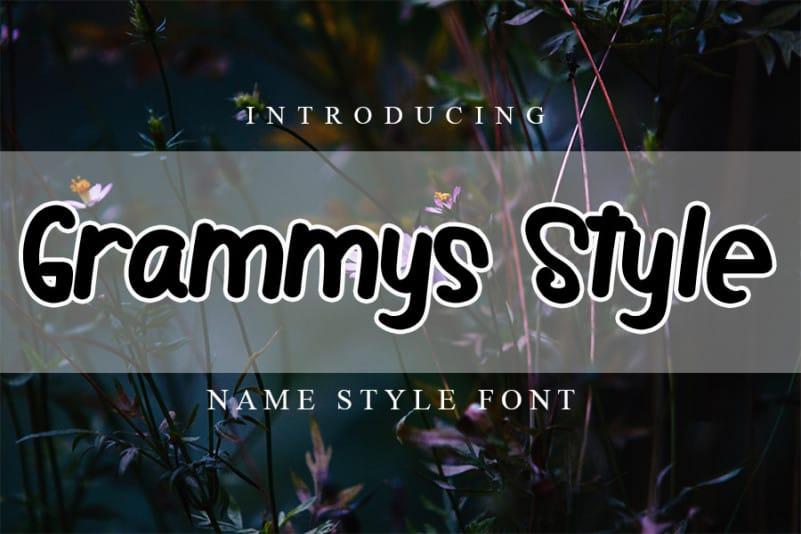 Grammys Style Script Font