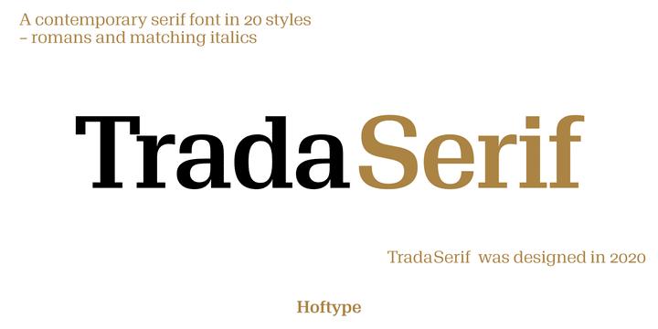 Trada Serif Font