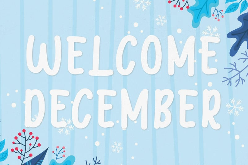 Welcome December Display Font