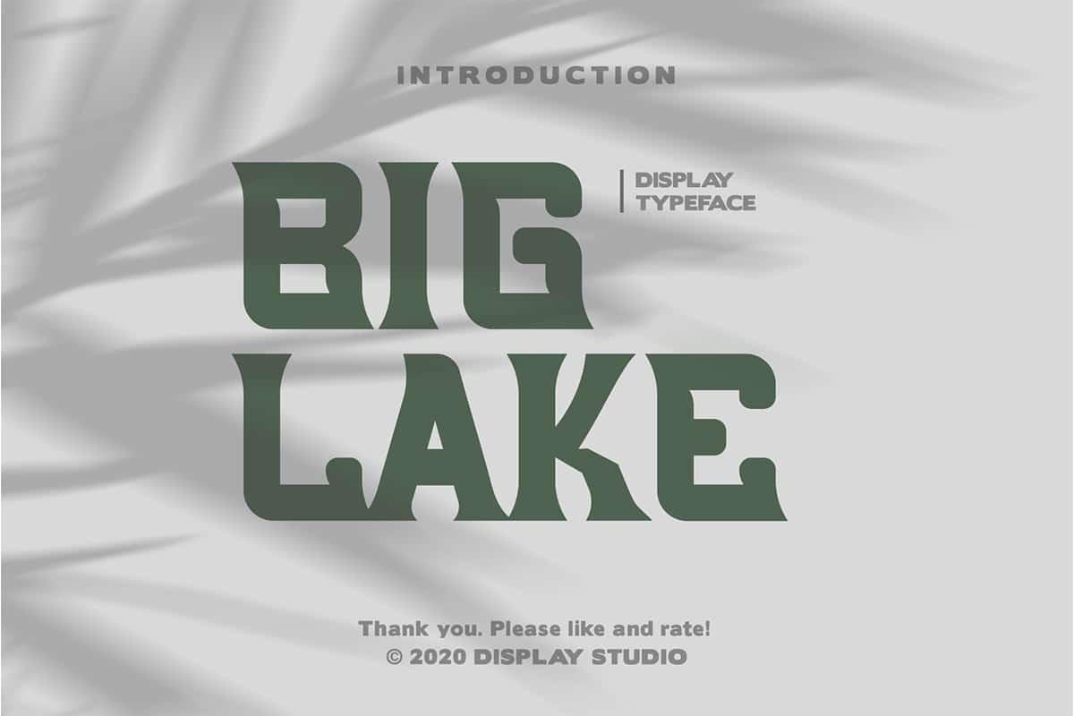 Big Lake Font