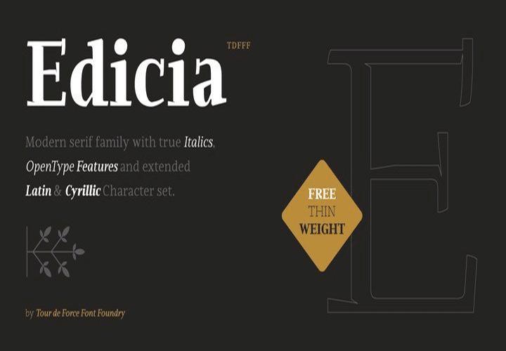 Edicia Font