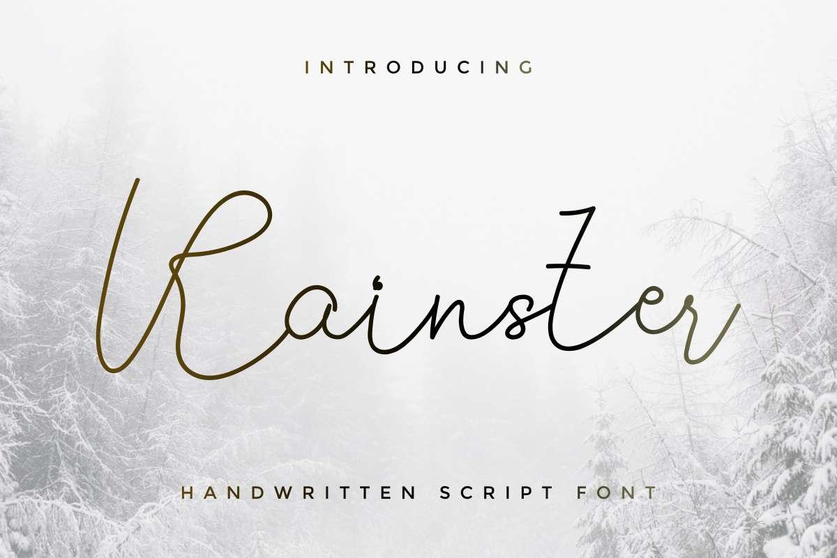 Rainster Handwriting Font