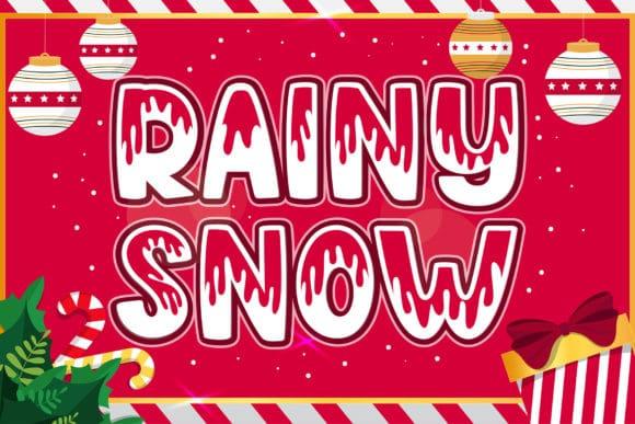 Rainy Snow Font