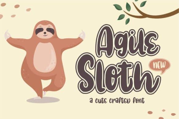 Agile Sloth Font
