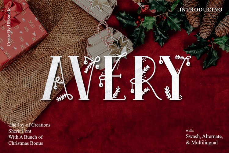 Avery Display Font