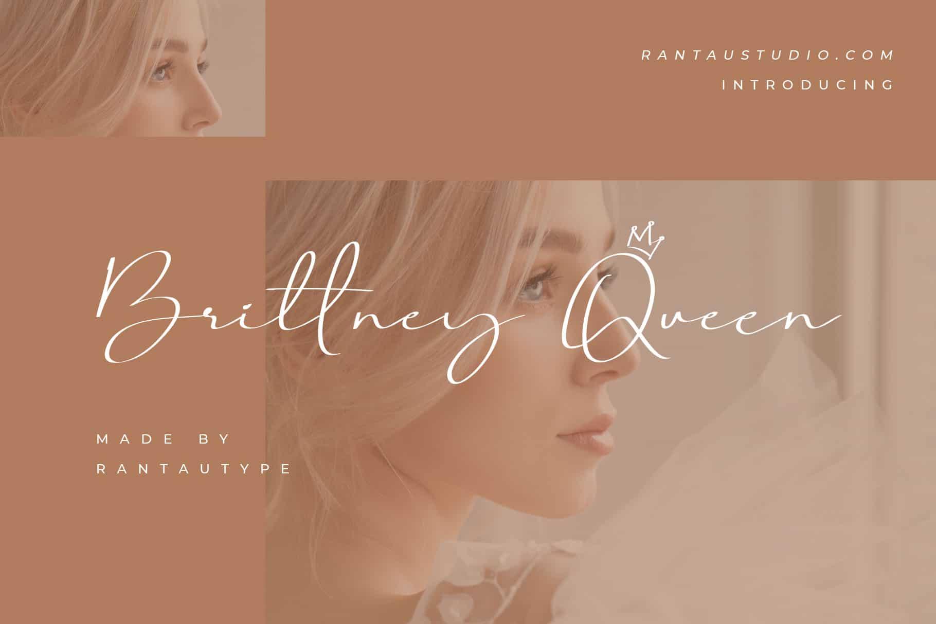 Brittney Queen Script Font