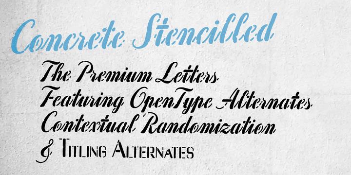 Concrete Stencil Font
