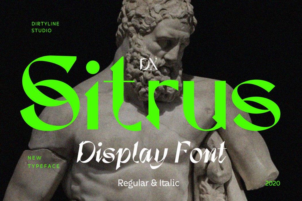 Dx Sitrus Display Font