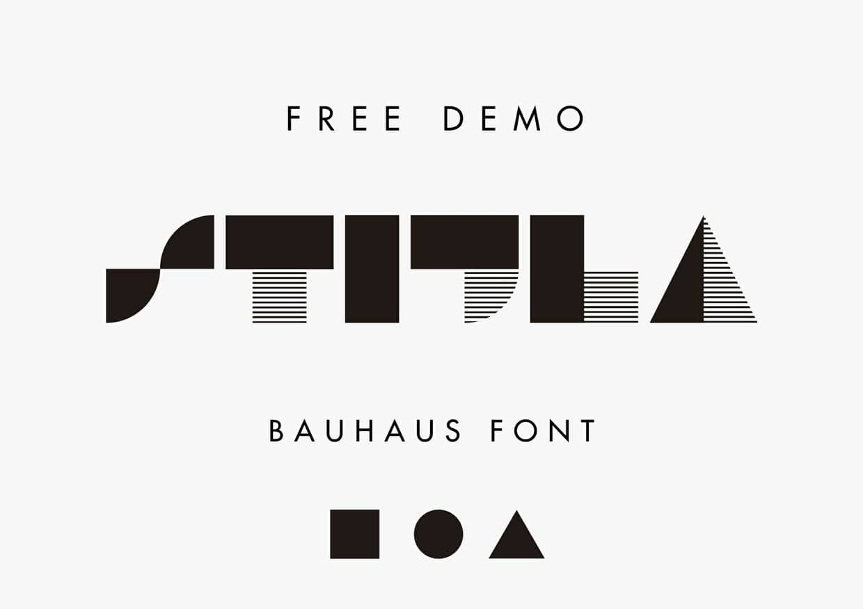 STIJLA Bauhaus Like Font