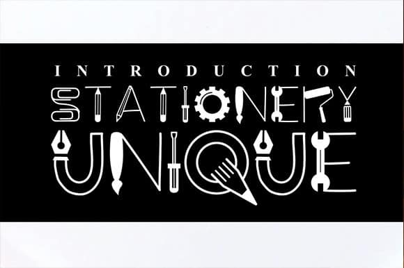 Stationery UNIQUE Display Font