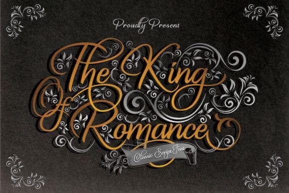 The King Of Romance Script Font