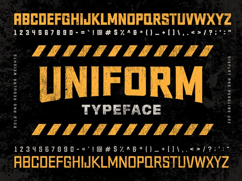 a uniform serif typeface