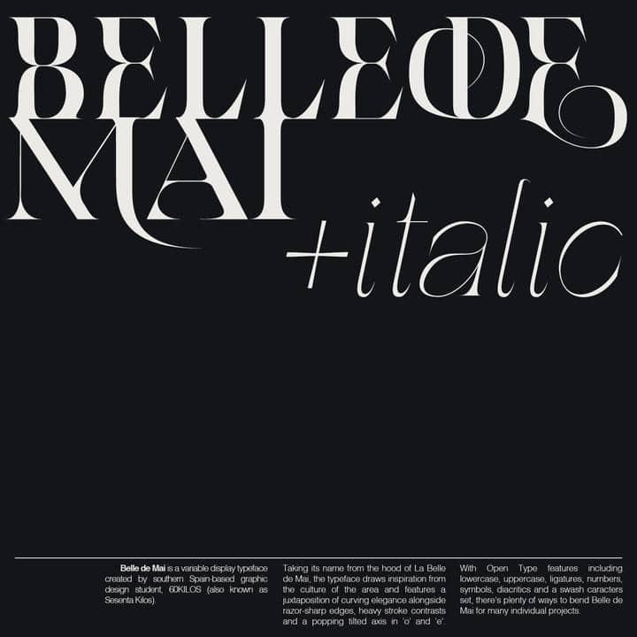 Belle de Mai Font Family