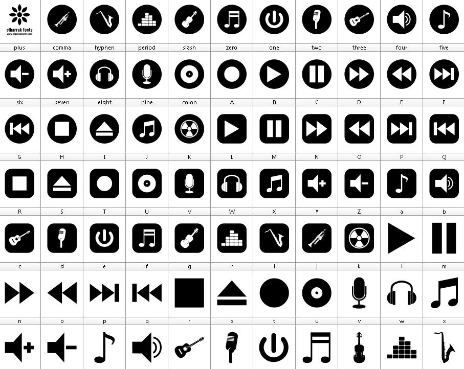 Font Bottons Music Font