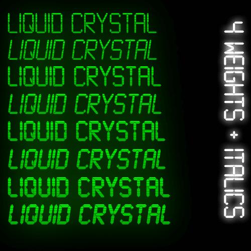Liquid Crystal Font