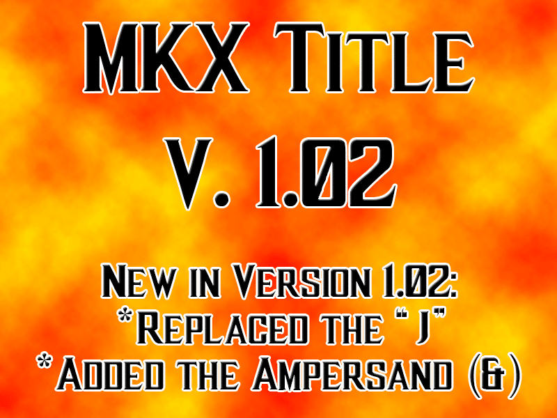 MKX Title Font