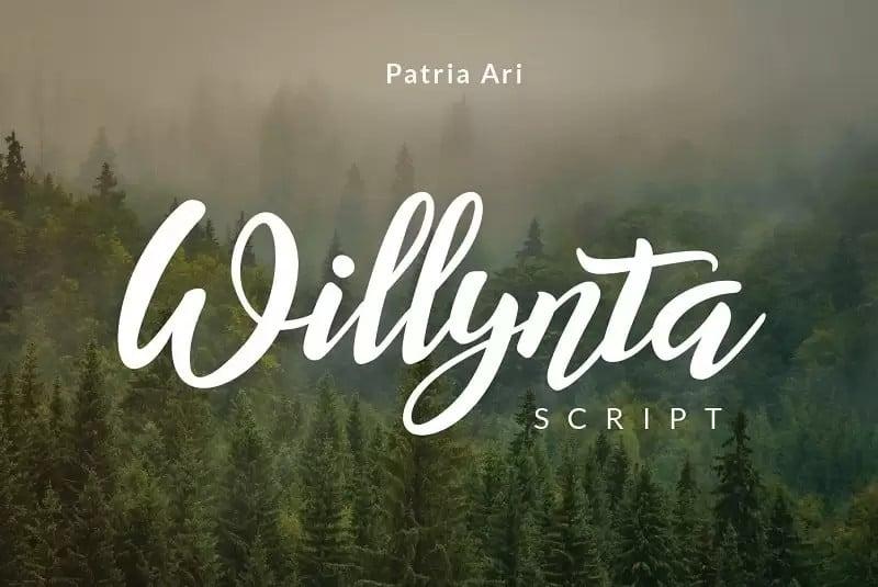 Willynta Script Font