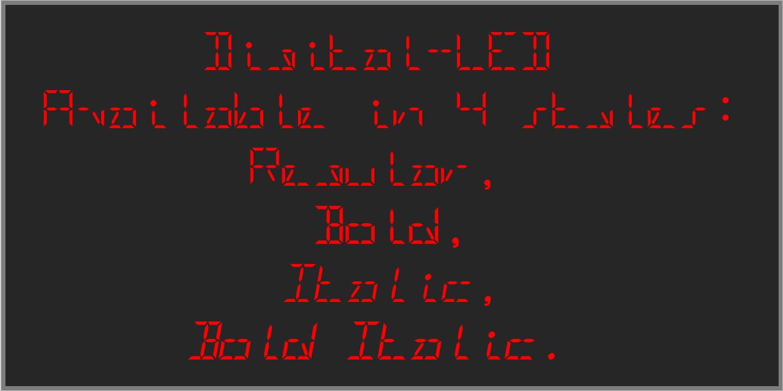 Digital LED Font