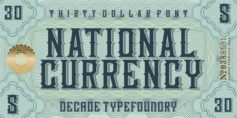 National Currency Font