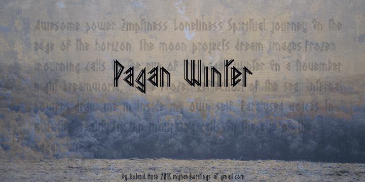 Pagan Winter Font