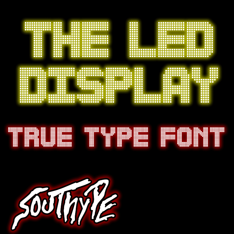 The Led Display St Font