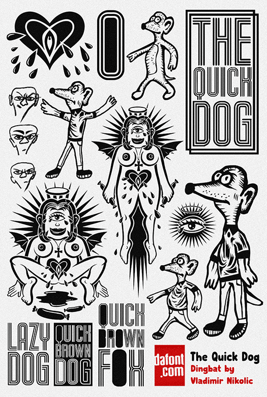 The Quick Dog Font