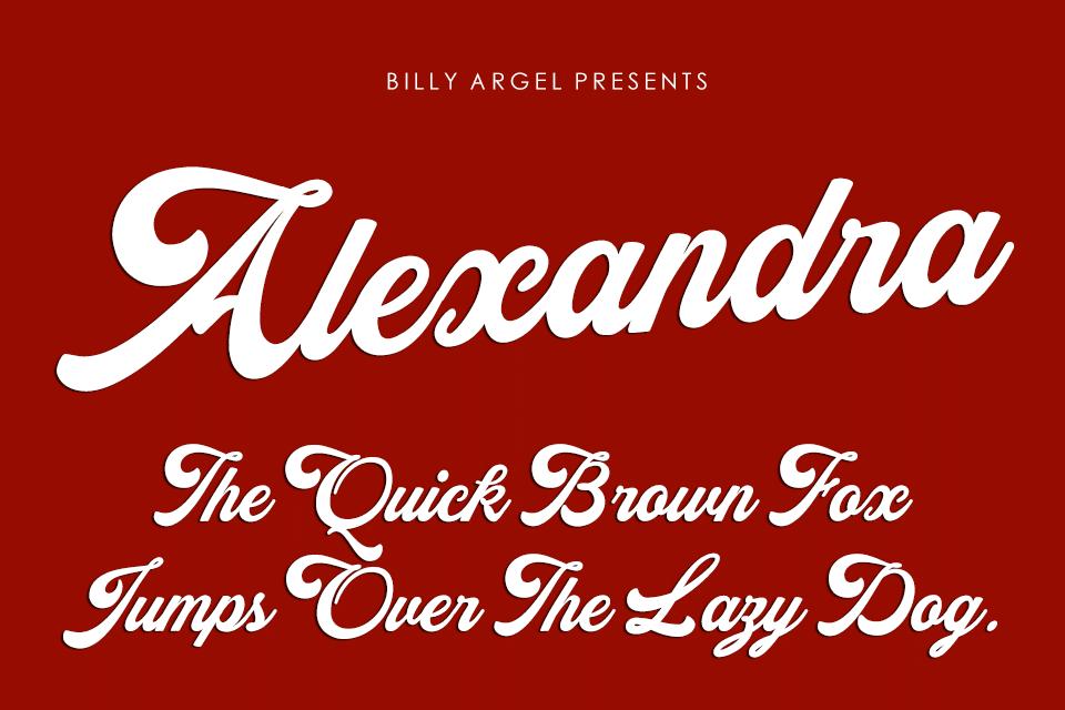 Alexandra Personal Use Font