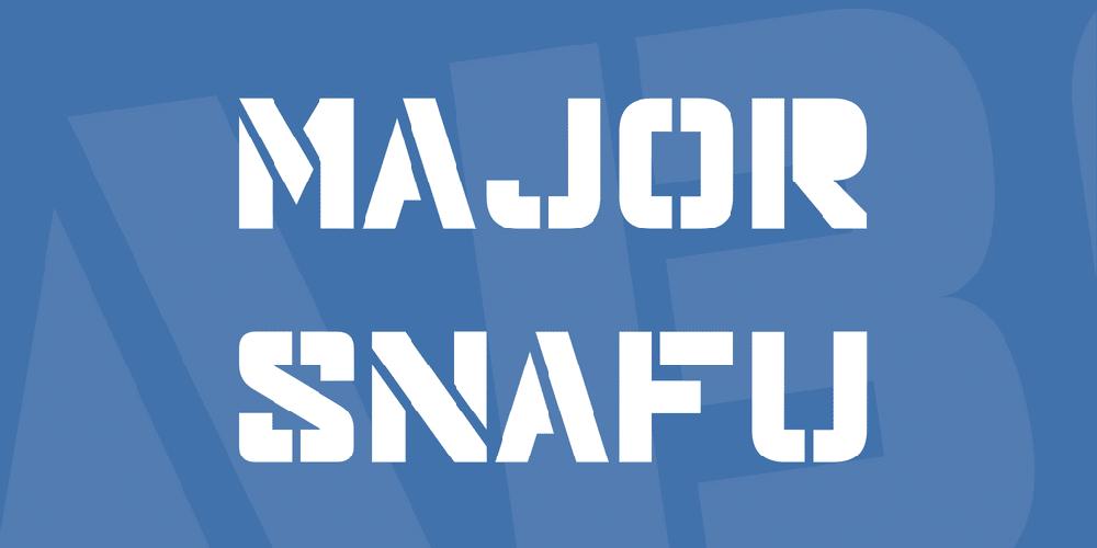 Major Snafu Font