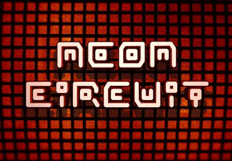 Neon Circuit Font