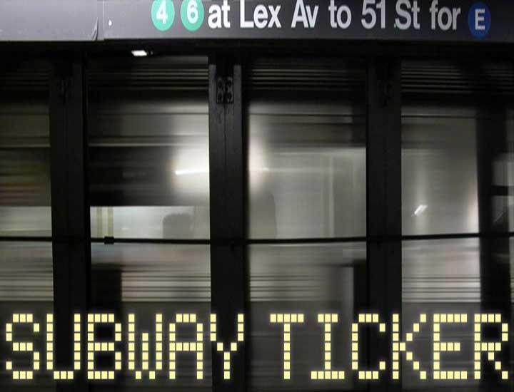 Subway Ticker Font