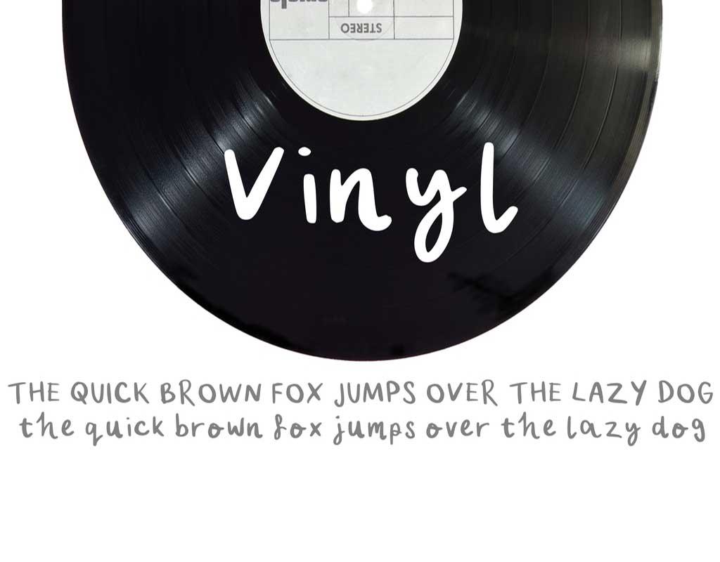 Vinyl Font