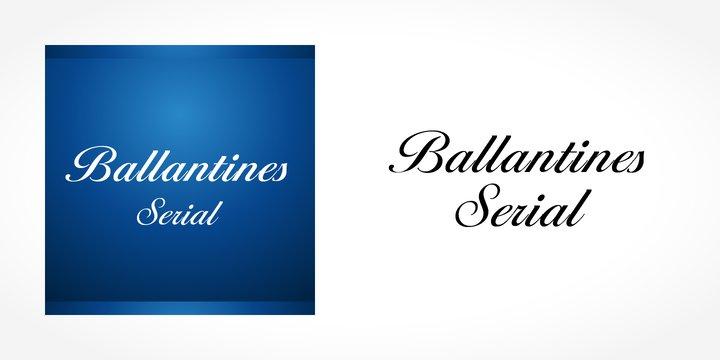 Ballantines Serial Font