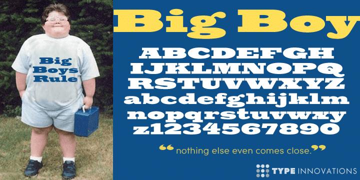 Big Boy Font