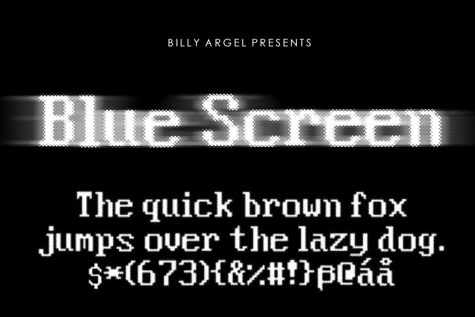 Blue Screen Font