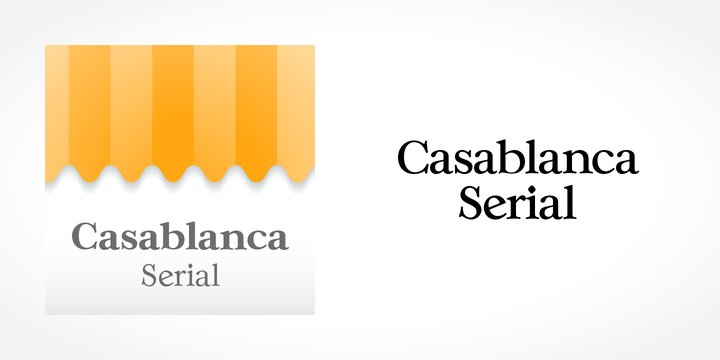 Casablanca Serial Font