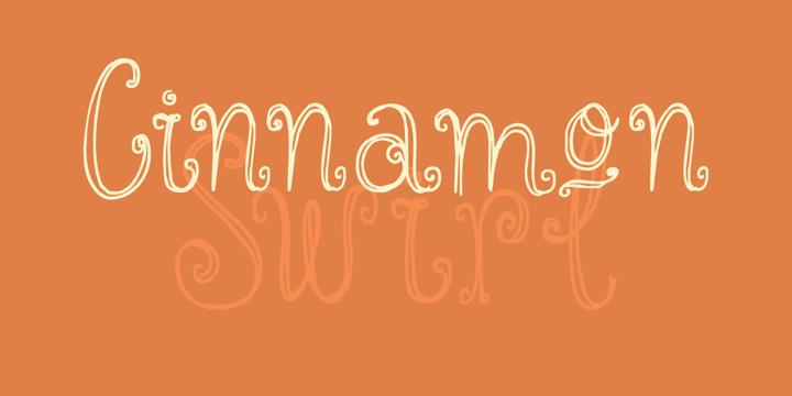 Cinnamon Swirl Font