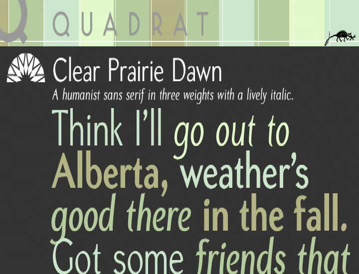 Clear Prairie Dawn Font
