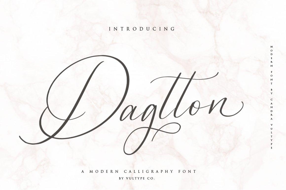 Dagtton Wedding Calligraphy Font