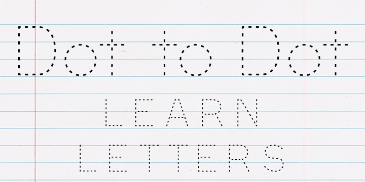 Dot to Dot Font