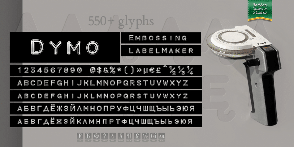 Dymo Font