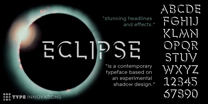 Eclipse Display Font